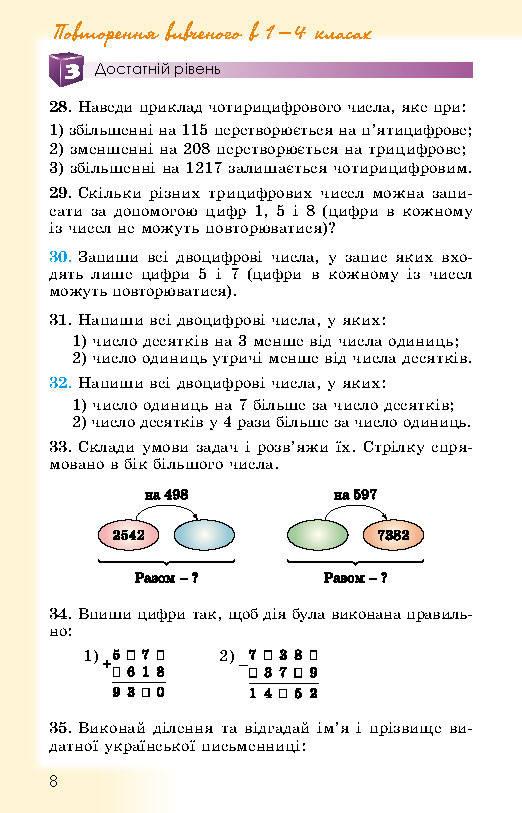 Підручник Математика 5 клас Істер