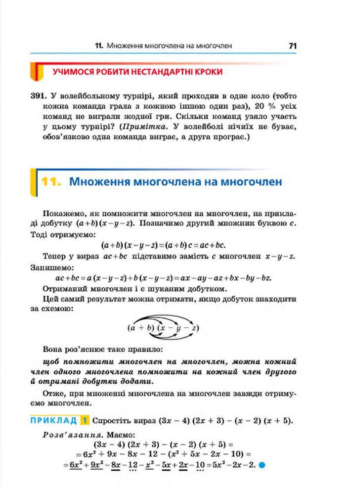 Підручник Алгебра 7 клас Мерзляк 2015 (Укр.)