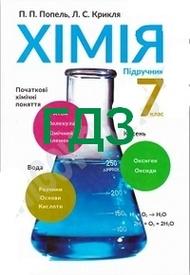 ГДЗ (ответы) Хімія 7 клас Попель 2015. Відповіді, решебник