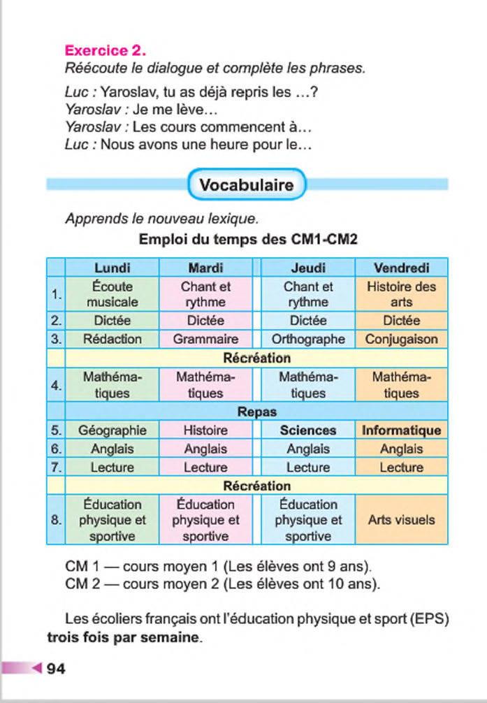 Підручник Французька мова 4 клас Чумак 2015