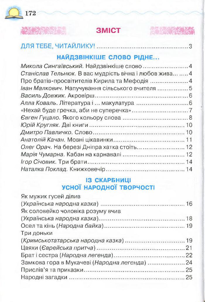 Моя домашня читальня 4 клас Савченко