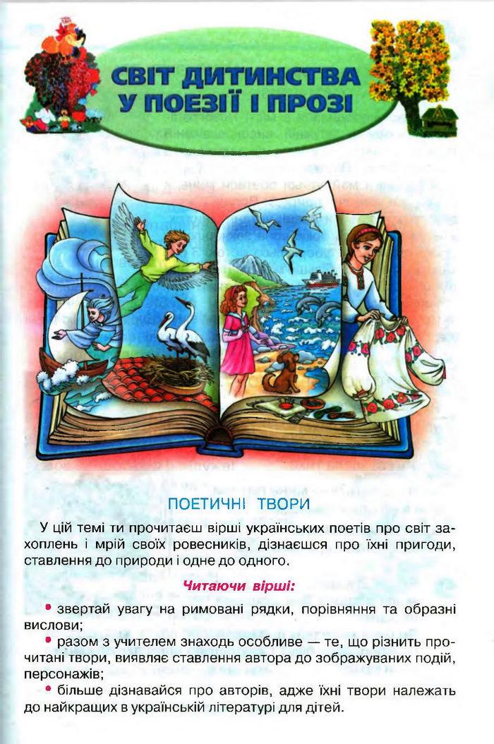 Підручник Літературне читання 3 клас Савченко
