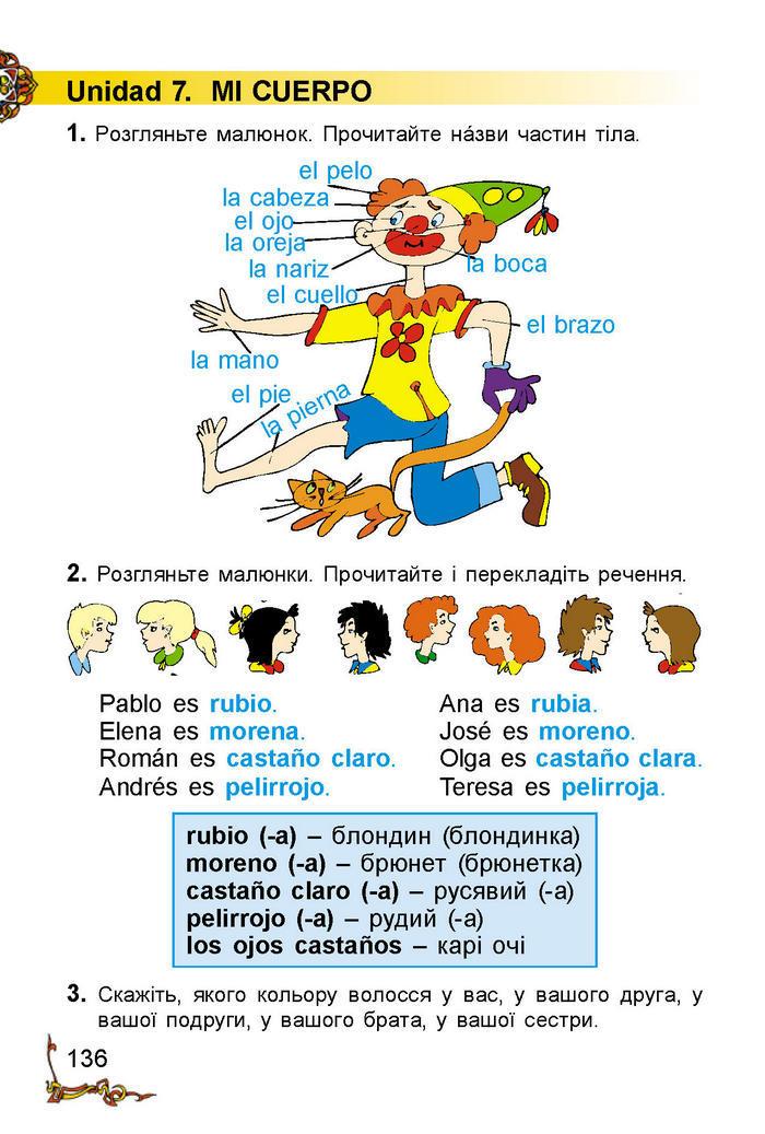 Іспанська мова 2 клас Редько