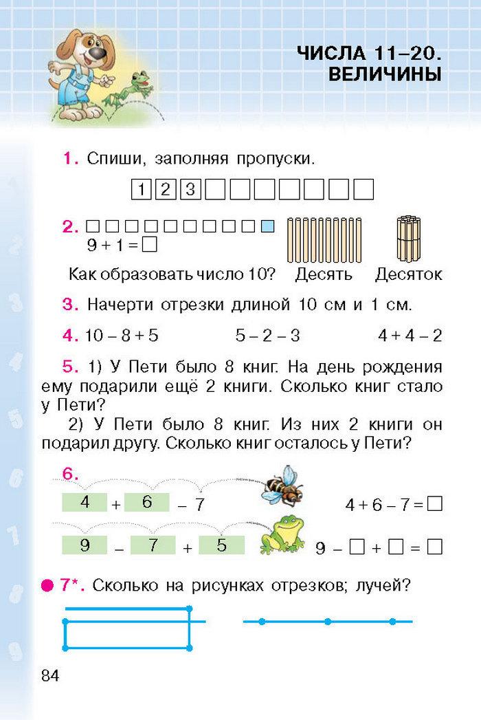 Математика 1 класс Богданович (Рус.)
