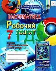 ГДЗ (Ответы, решебник) Робочий зошит Інформатика 7 клас Ривкінд. Відповіді онлайн
