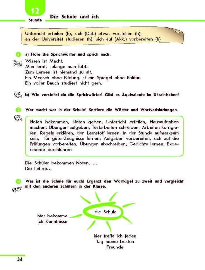 Підручник Німецька H@llo, Freunde! 10 клас Сотникова