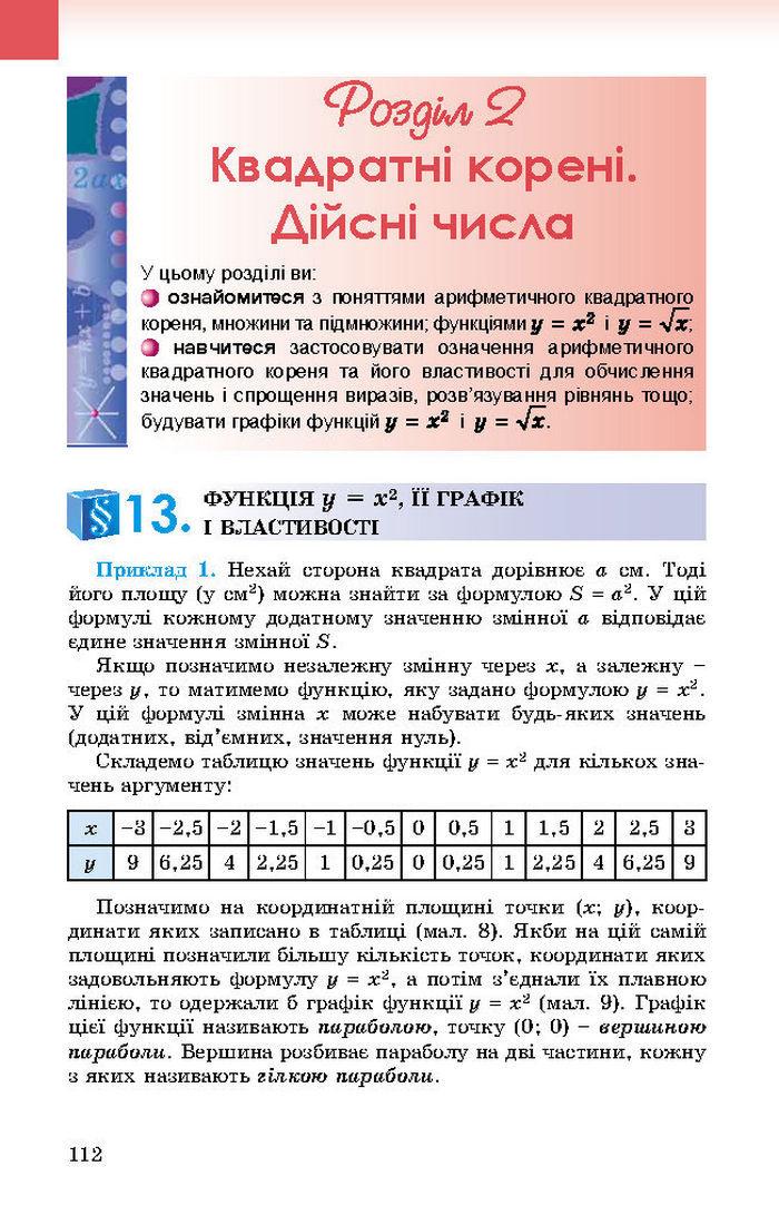 Підручник Алгебра 8 клас Істер 2016 (Укр.)