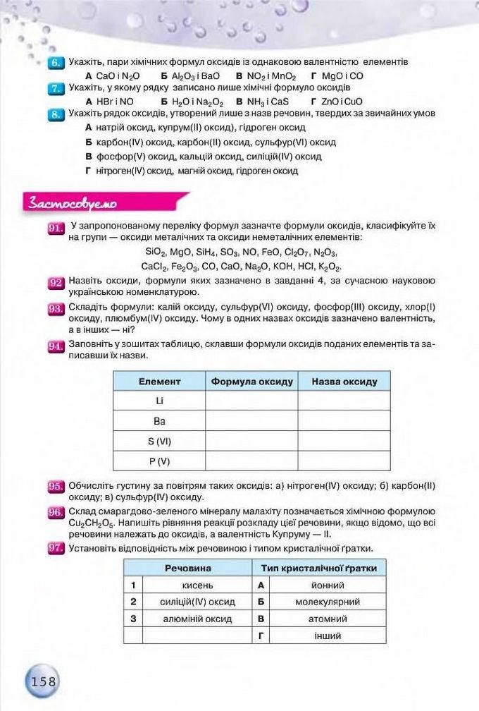 Підручник Хімія 8 клас Ярошенко 2016