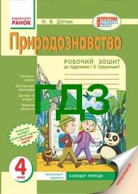 Відповіді Зошит Природознавство 4 клас Діптан - Грущинська. ГДЗ