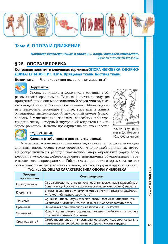 Биология 8 класс Соболь 2016 (Рус.)
