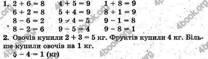 Відповіді Математика 1 клас Богданович. ГДЗ