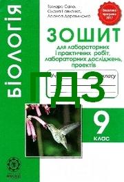 Відповіді Зошит Біологія 9 клас Сало. ГДЗ