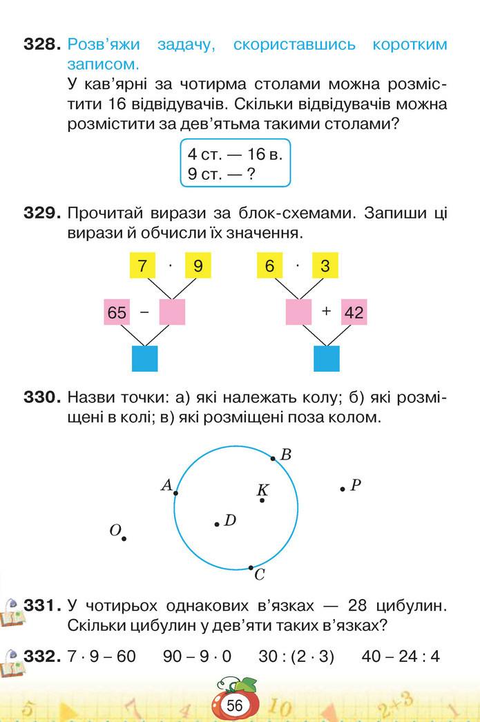 Математика 3 клас Листопад (1 частина)